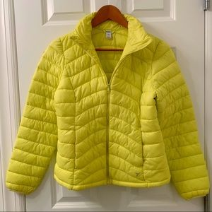 Old Navy Yellow Puffer Jacket